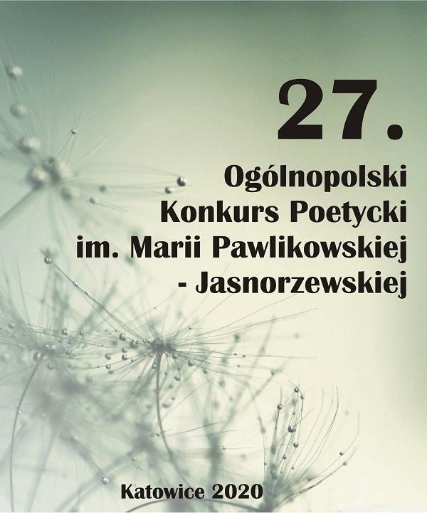 2020 01 03 Xxvii Konkurs Poetycki Im Marii Pawlikowskiej