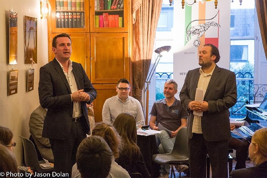 Minister ds. Mniejszości Narodowych, Kultury i Równości Irlandii Aodhán Ó Ríordáin i Tomasz Wybranowski. Festiwal PolskaEIRE 2015. Fot. David Nolan