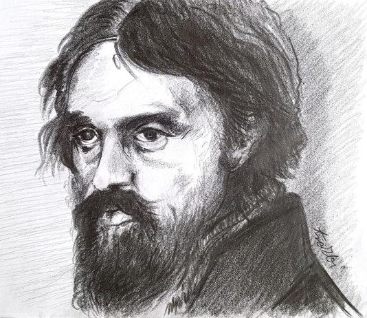 Portret Cypriana K. Norwida, wyk. w/g przez Zbyszka Ikonę - Kresowatego