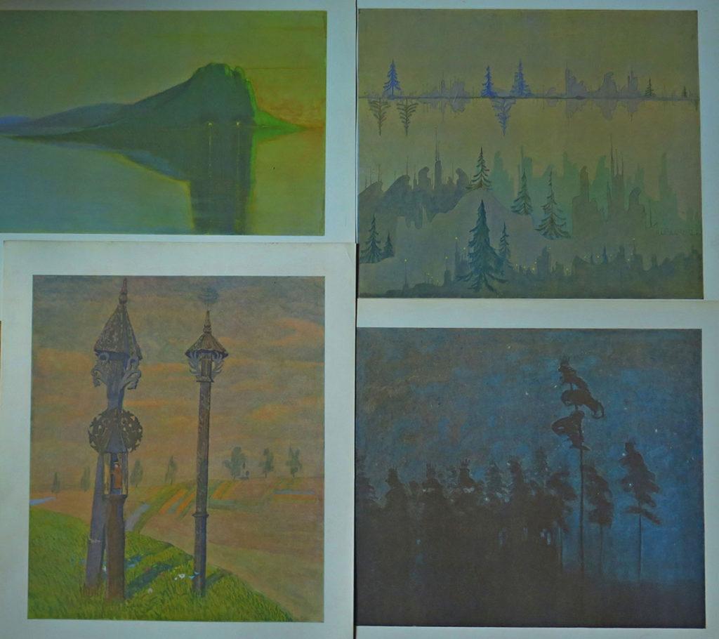 Obrazy artysty – Spokój; Fuga; Żmudzkie krzyże; Las