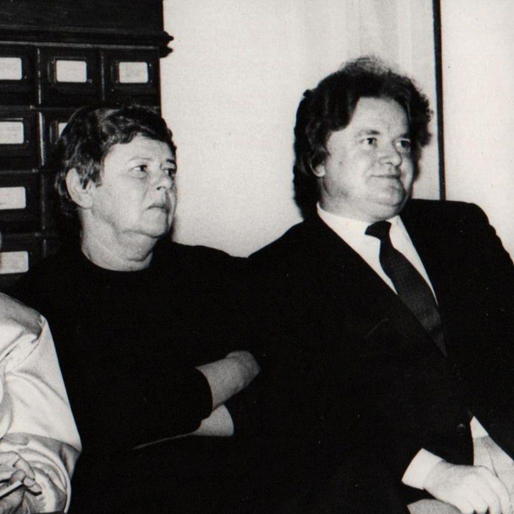Anna Markowa i Waldemar Smaszcz, 1990. Z archiwum K. Koneckiej